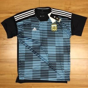 Adidas 2018 Argentina Pre-Match Soccer Jersey